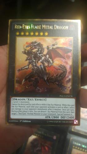 red-eyes flare metal dragon gold yugi-oh