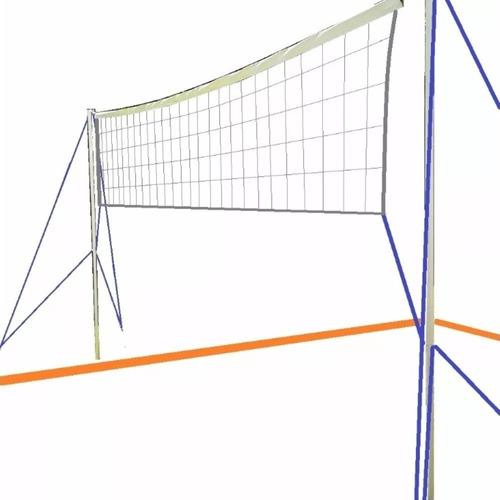 red futbol tenis voley para jugar en jardin o playa 3 metros