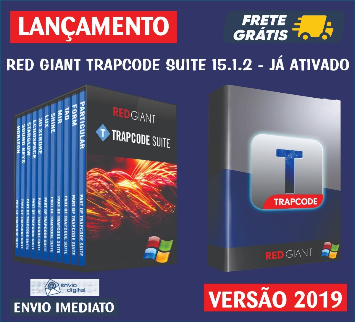 Red Giant Trapcode Suite 15 / Plugins After  Envio Digital