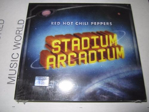 red hot chili peppers stadium arcadium doble cd. disponible