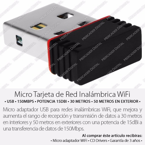red inalambrica usb