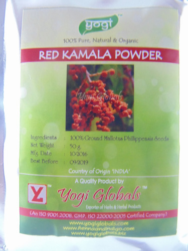 red kamala powder yogi frete 10,90* p/ todo brasil  50g