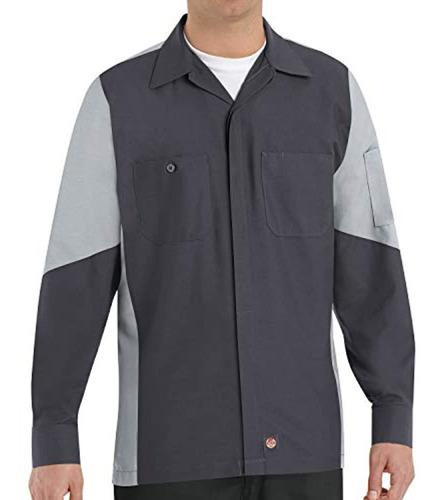 red kap camisa de hombre kap, gris oscuro, oscuro