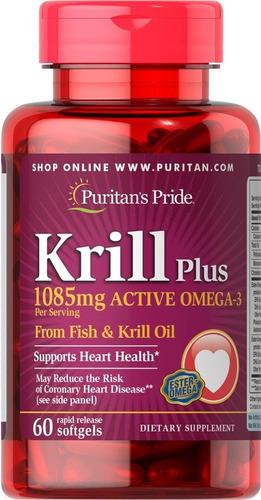 red krill 1085 mg por 60 sofgels americano original