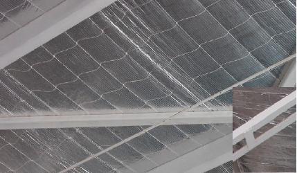 red malla plástica para aislación x 400m2 lana o espuma