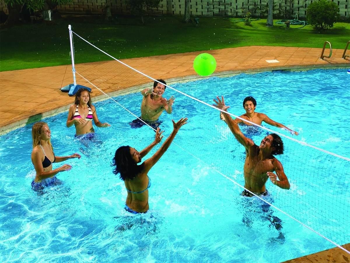 Red para jugar voleibol en la alberca y arena 3 en mercado libre - Red voley piscina ...