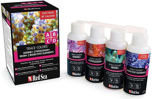 red sea coral colors kit- 4x 100ml