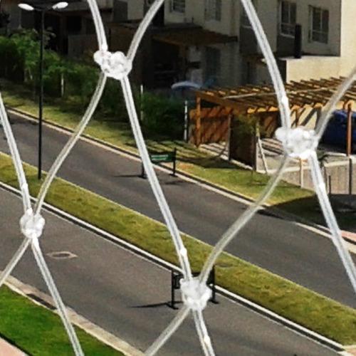red seguridad tanza 1.mm transparente malla 5.cm proteccion - entrega inmediata - resiste intemperie