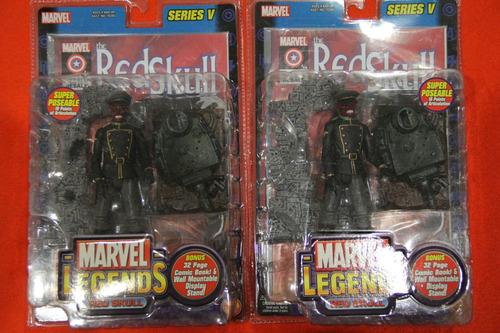 red skull marvel legends serie v,  spiderman, ironman