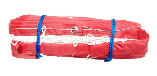 red voleibol blanca profesional cable acero refuerzo 4 lados