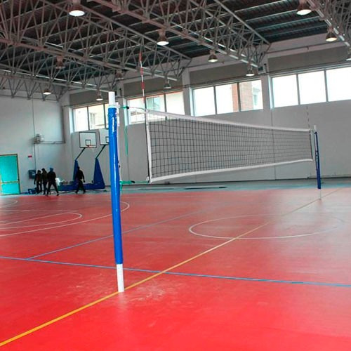 red volleyball con cable acero mvg sport