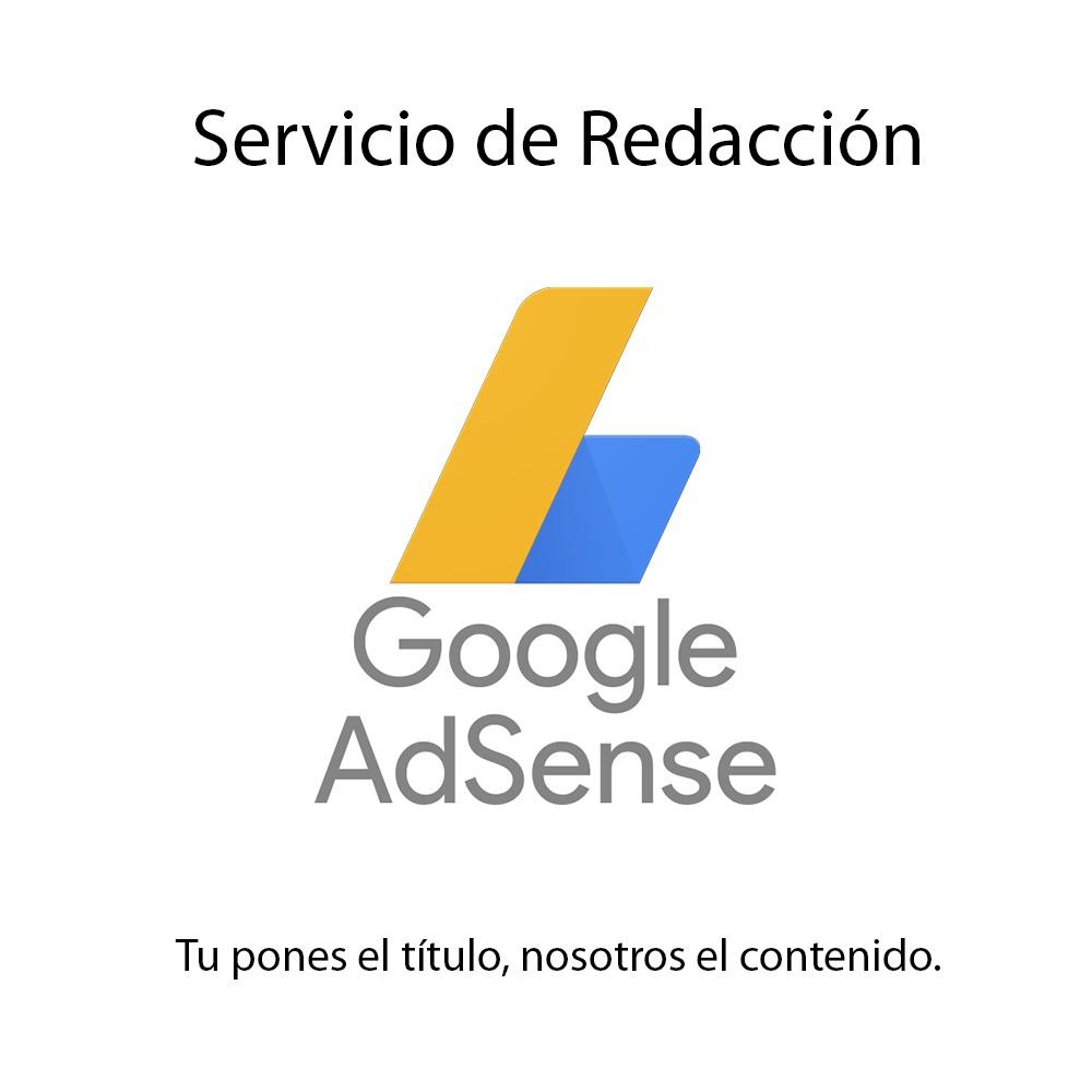 Redacción Artículos Para Google Adsense - en Mercado Libre