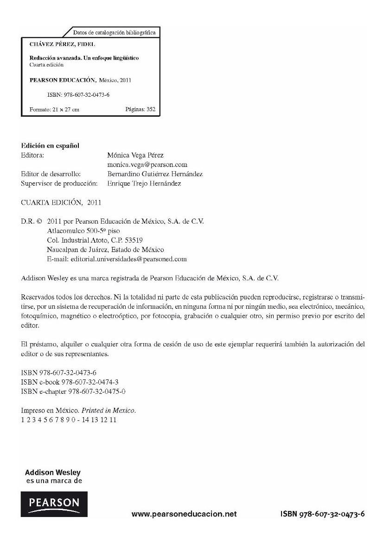 Redaccion Avanzada Fidel Chavez Perez Pdf