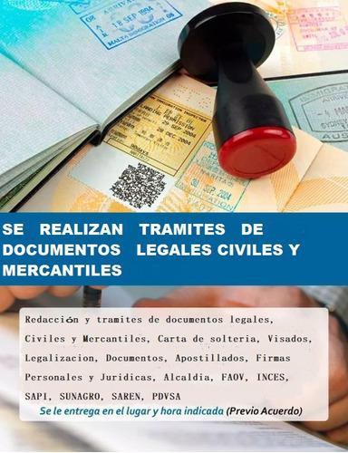 redacción y tramites de documentos legales!