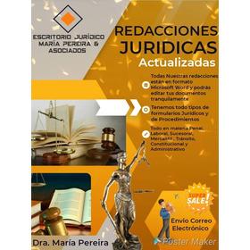 Redacciones Juridicas De Derecho Mercantil.