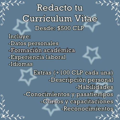redacto tu currículum vitae (cv)