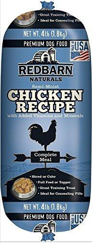 redbarn pet products pollo y higado food roll 4 lb roll