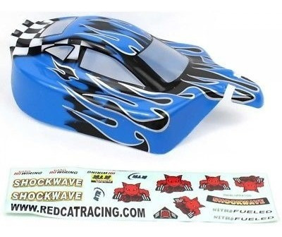 redcat racing 1/10 buggy body azul llama: tornado rer02399