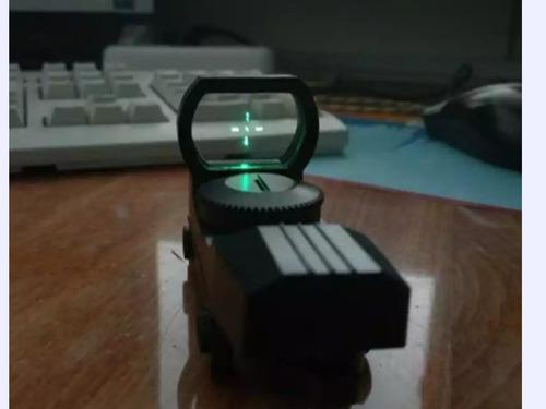 reddot mira holografica green toy airsoft + brinde