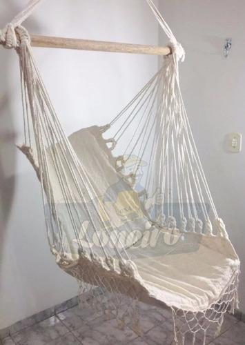 rede cadeira descanso teto balanço artesanal frete grátis