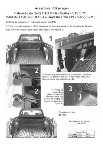 rede cargo bag porta objetos saveiro e saveiro cabine dupla