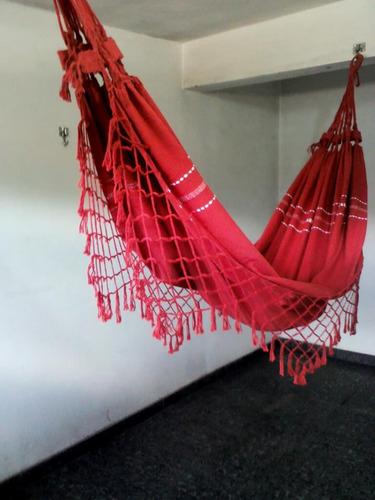 rede de algodão casal - várias cores - tear