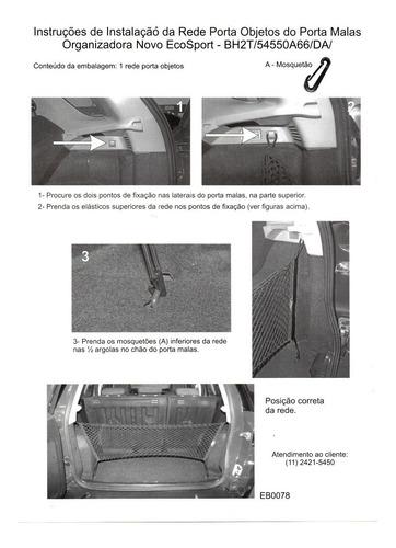 rede de carga porta objetos porta malas novo ford ecosport