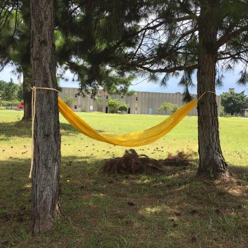rede de descanso araty relax amarela polipropileno