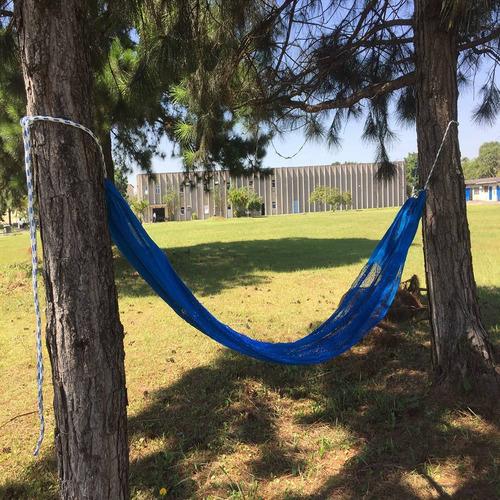 rede de descanso araty relax azul royal polipropileno