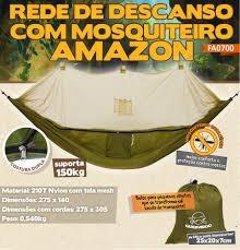 rede de descanso com tela mosquiteiro amazon guepardo 150kg