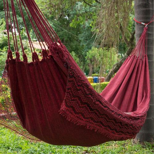 rede de dormir descanso jeans balanco resistente algodao