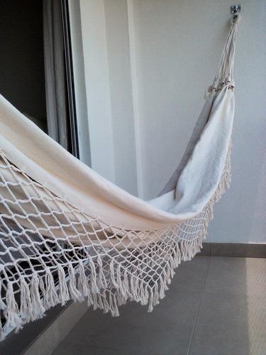rede de dormir  - descanso - solteiro - crú-natural