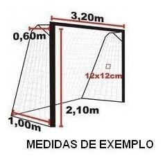 bf533aedb Rede De Gol Futsal. Tamanho 3x2x0,40x 0.80 Veu. - R$ 160,00 em ...