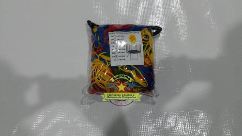 rede de proteção colorida para cama elástica de 3,05m