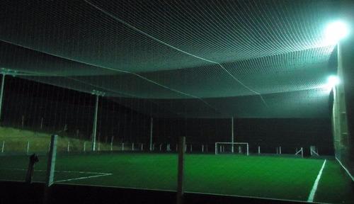 rede de proteção p/ cobertura de quadras fio 2mm malha 12cm