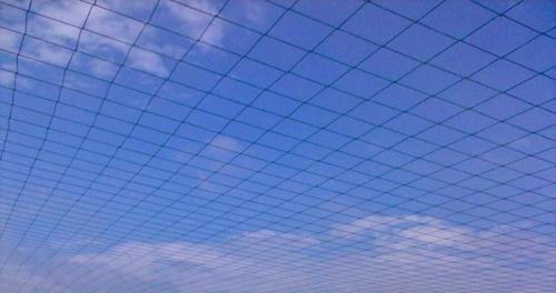 rede de proteção p/ lateral quadra/campos - fio 2 malha 10