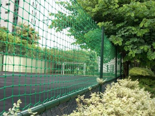 rede de proteção p/ quadras salão fio 2mm - malha 12cm 4 x 9