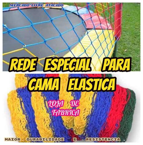 rede de proteção para cama elastica 3.00,3.05/3.10mts+brinde