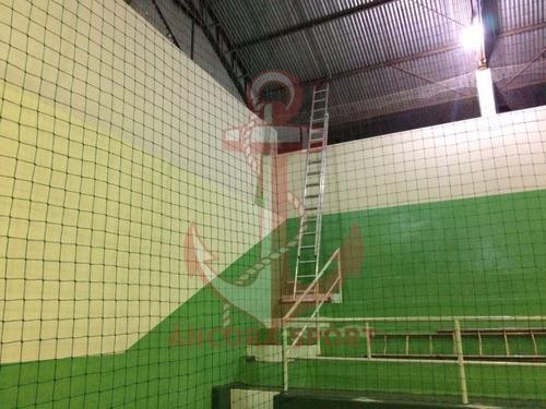 rede de proteção para quadras (fio 4 mm seda - malha 12 )