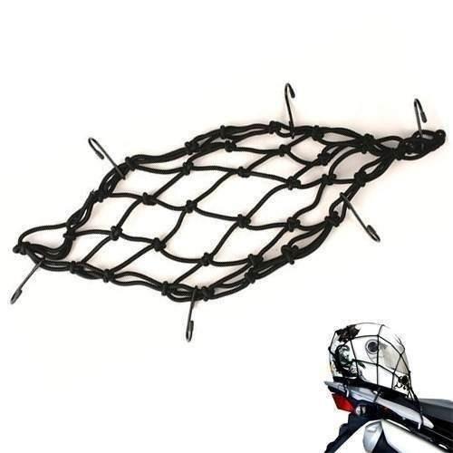 rede elastica aranha moto capacete 60 cm x 60 cm - bagageiro
