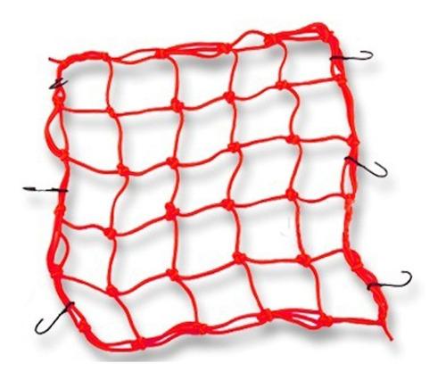 rede elástica aranha para moto capacete 25x25 cm vermelho ba