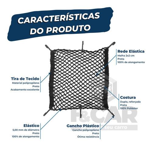 rede elástica para bagageiro moto capacete 55x55 cm
