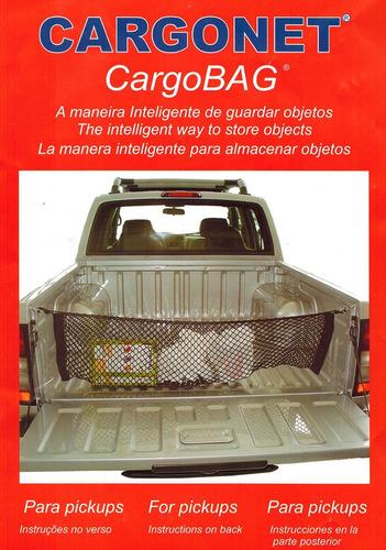 rede elástica para caçamba pick up cargonet - cargo bag