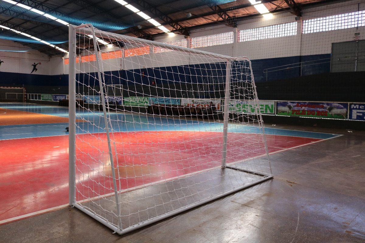 rede futebol nylon fio 2 para futebol salão (futsal) par. Carregando zoom. 532bfa8868497
