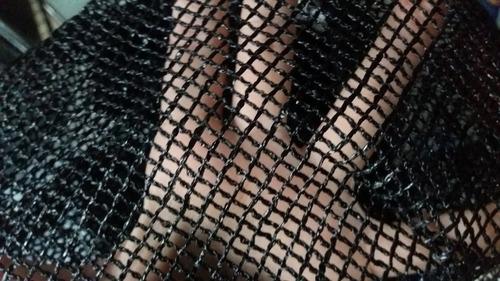 rede para cama elástica modelo ourbonder com porta em ziper