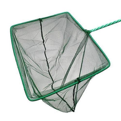 rede pega peixe. tamanho 3 . p/ aquários e fontes. 7,5 x 7cm
