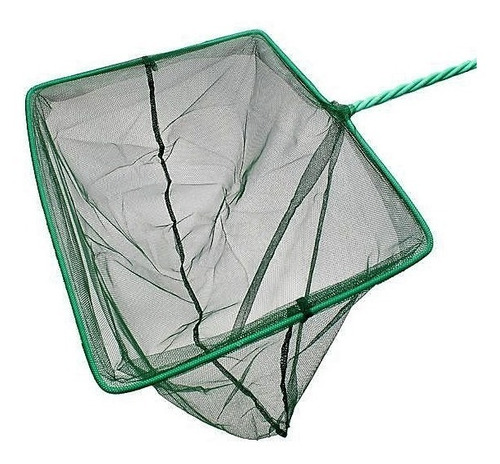 rede pega peixe. tamanho g 8 p/ aquários e fontes 20 x 16 cm