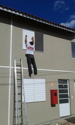 rede tela proteção segurança  apartamento janela 1,20 x 1,30