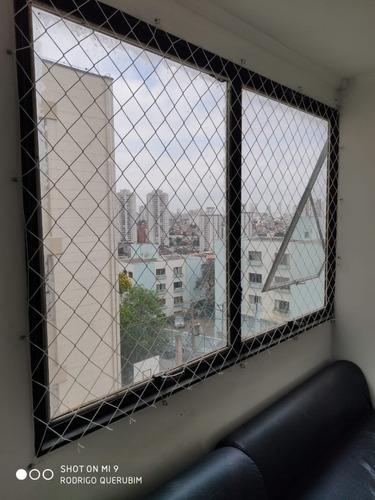 rede telas de proteção aparti 28.9 m2 janelas e sacadas