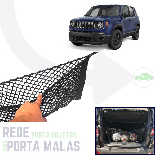 rede tipo bolsa porta objetos porta malas jeep renegade 2018